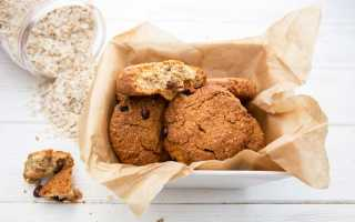 Овсяное печенье: калорийность