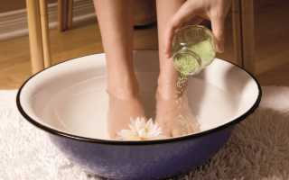 Ванночки от потливости ног в домашних условиях