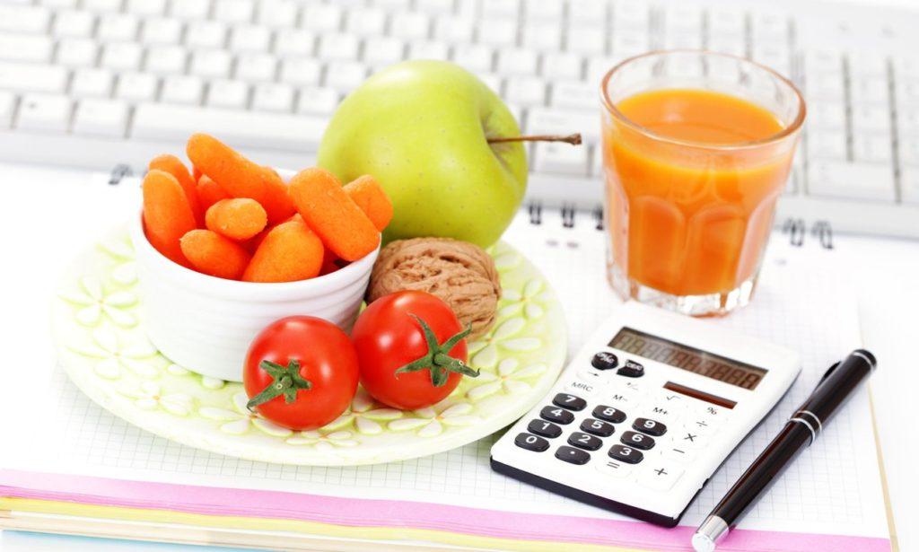 схема калорий для похудения