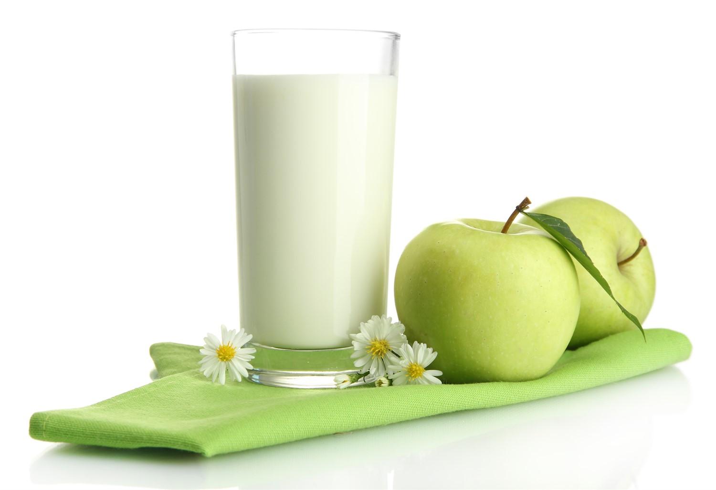 Яблоки и молоко для похудения