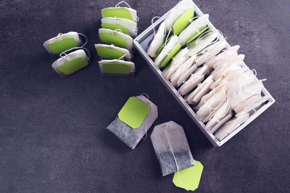 чайные пакетики с зелёной бумажкой