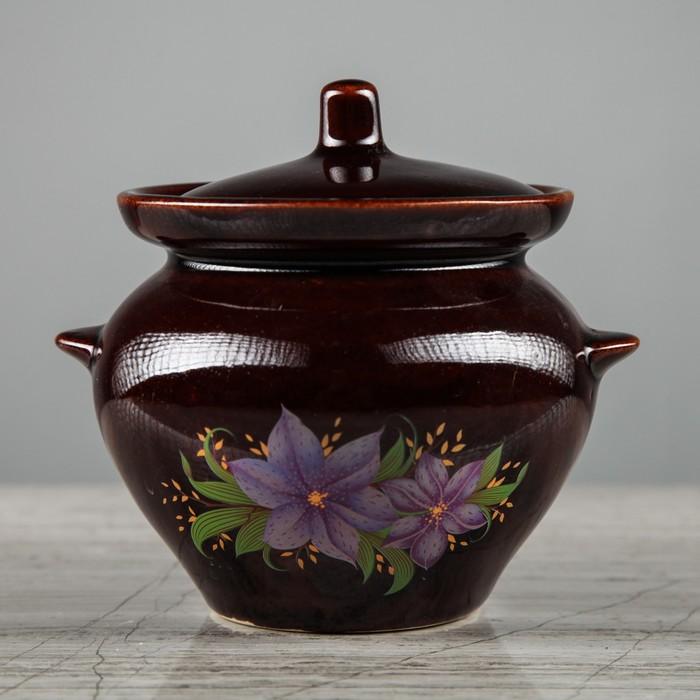 керамический горшок с цветами для запекания