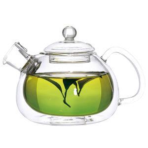 стеклянный чайник с двойными стенками